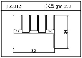 门窗铝型材HS3012