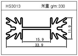 门窗铝型材HS3013