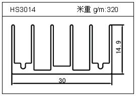 门窗铝型材HS3014