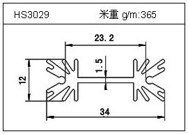 门窗铝型材HS3029