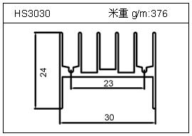 门窗铝型材HS3030