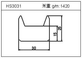 门窗铝型材HS3031