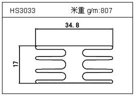 门窗铝型材HS3033