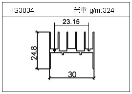 门窗铝型材HS3034