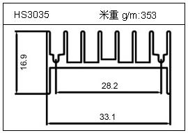 门窗铝型材HS3035