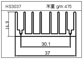 门窗铝型材HS3037