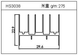 门窗铝型材HS3038