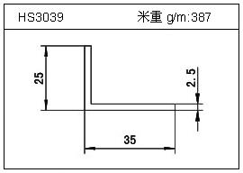 门窗铝型材HS3039