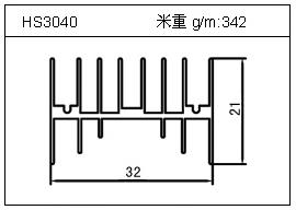 门窗铝型材HS3040