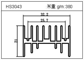 门窗铝型材HS3043