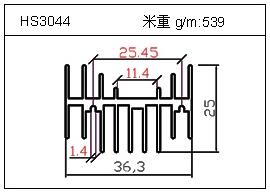 门窗铝型材HS3044