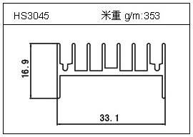 门窗铝型材HS3045