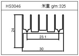 门窗铝型材HS3046