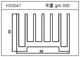门窗铝型材HS3047