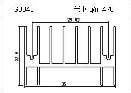 门窗铝型材HS3048