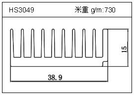 日光灯铝型材HS3049
