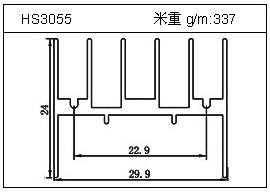日光灯铝型材HS3055