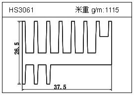 日光灯铝型材HS3061