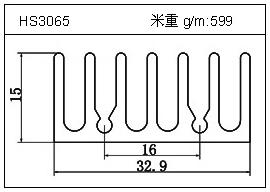日光灯铝型材HS3065