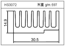 日光灯铝型材HS3072
