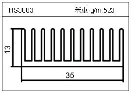 日光灯铝型材HS3083