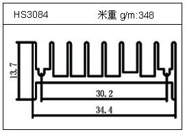日光灯铝型材HS3084