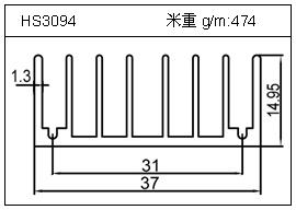 高密齿铝型材HS3094