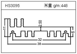 高密齿铝型材HS3095