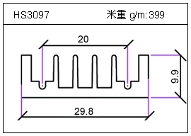 高密齿铝型材HS3097