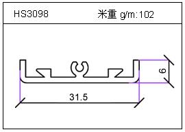 高密齿铝型材HS3098