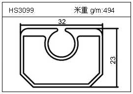 高密齿铝型材HS3099