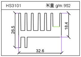 高密齿铝型材HS3101