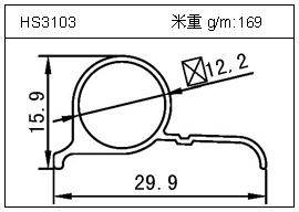 高密齿铝型材HS3103