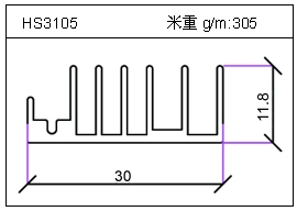 高密齿铝型材HS3105