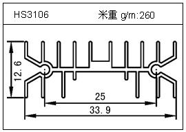 高密齿铝型材HS3106