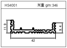 高密齿铝型材HS4001