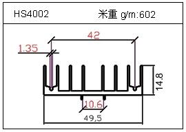 高密齿铝型材HS4002