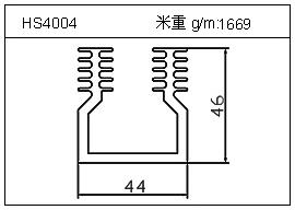 高密齿铝型材HS4004