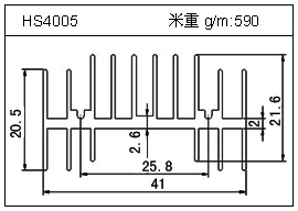 高密齿铝型材HS4005