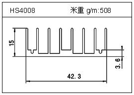 高密齿铝型材HS4008