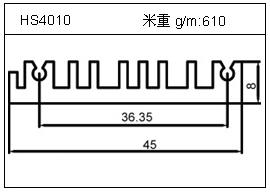 高密齿铝型材HS4010