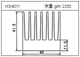 高密齿铝型材HS4011