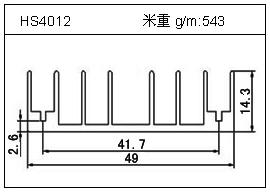 高密齿铝型材HS4012