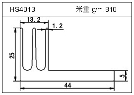 高密齿铝型材HS4013
