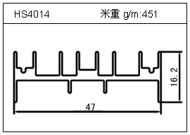高密齿铝型材HS4014