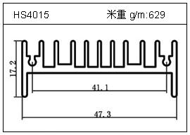 高密齿铝型材HS4015