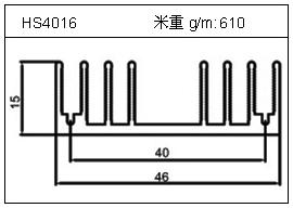 高密齿铝型材HS4016