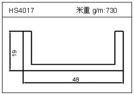 高密齿铝型材HS4017