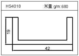 高密齿铝型材HS4018