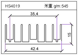 高密齿铝型材HS4019